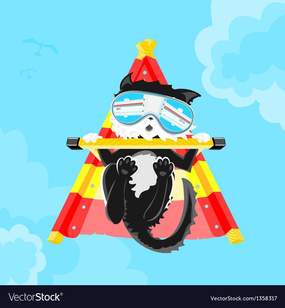 Cat pilot vector | Price: 3 Credit (USD $3)