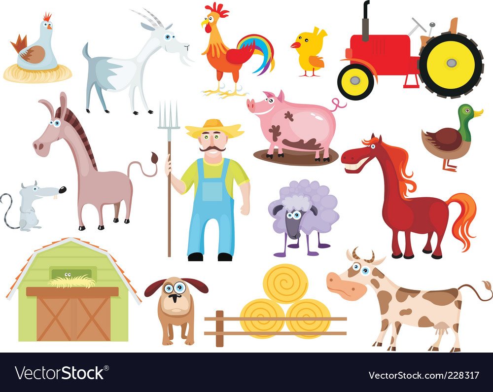 Farm set vector | Price: 3 Credit (USD $3)