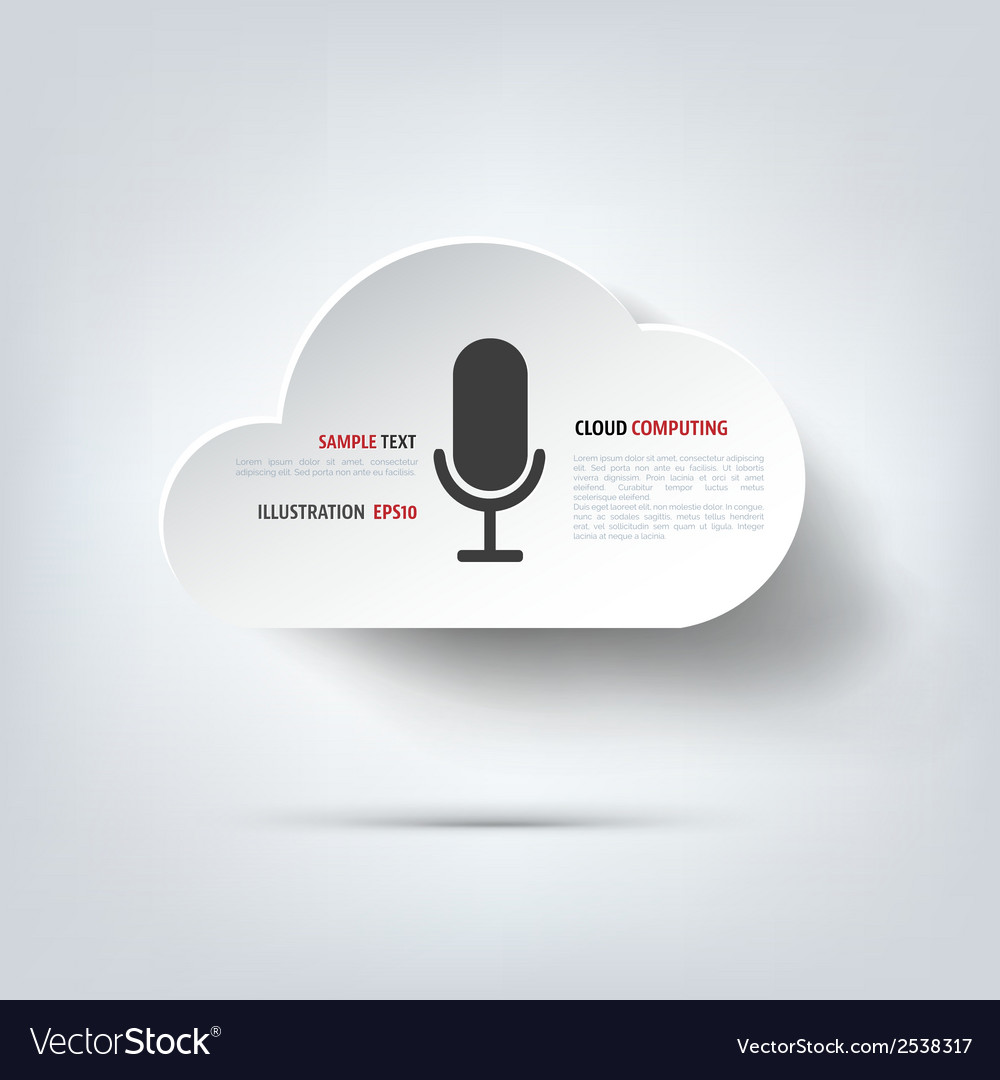 Microphone icon voice recording vector | Price: 1 Credit (USD $1)