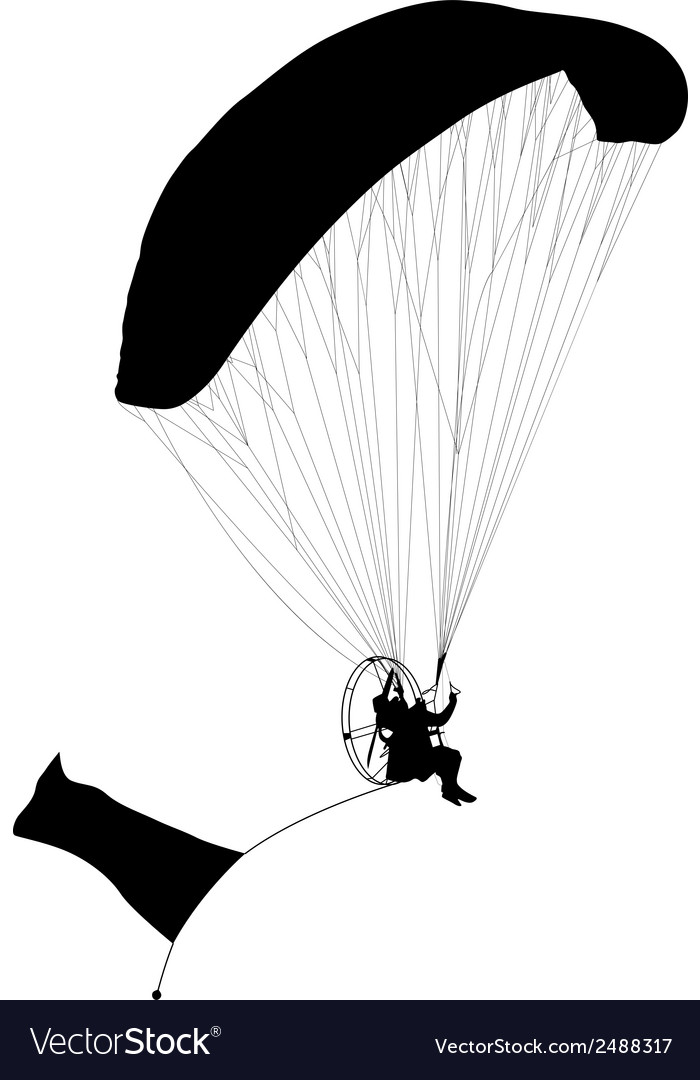 Paragliding  silhouette vector | Price: 1 Credit (USD $1)