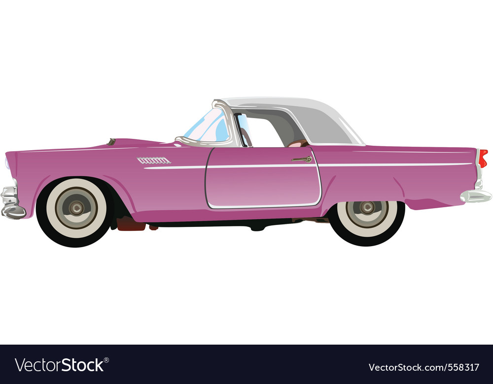 Pink classic auto vector | Price: 1 Credit (USD $1)