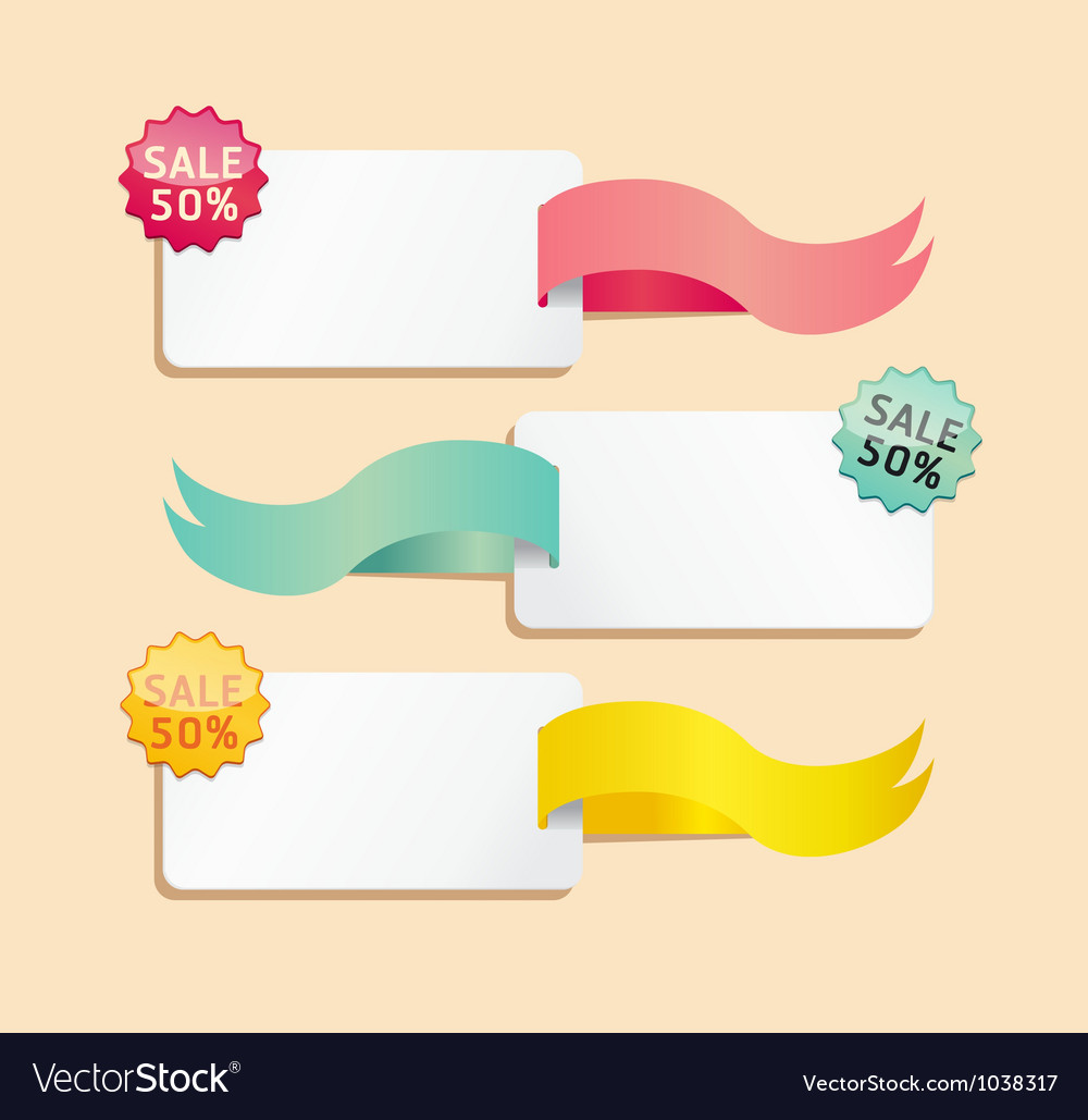 Ribbon soft color sale tag vector | Price: 1 Credit (USD $1)