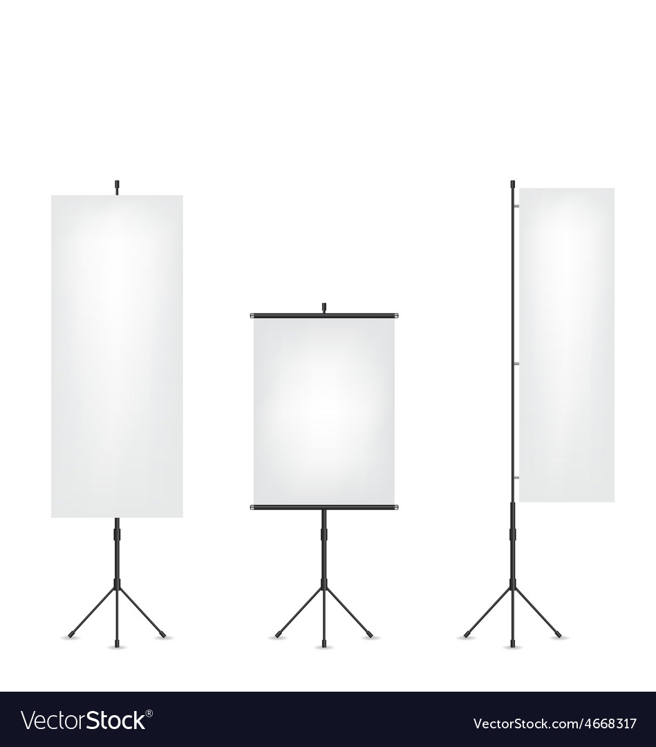 Roll up flag banner and projection screen vector   Price: 1 Credit (USD $1)