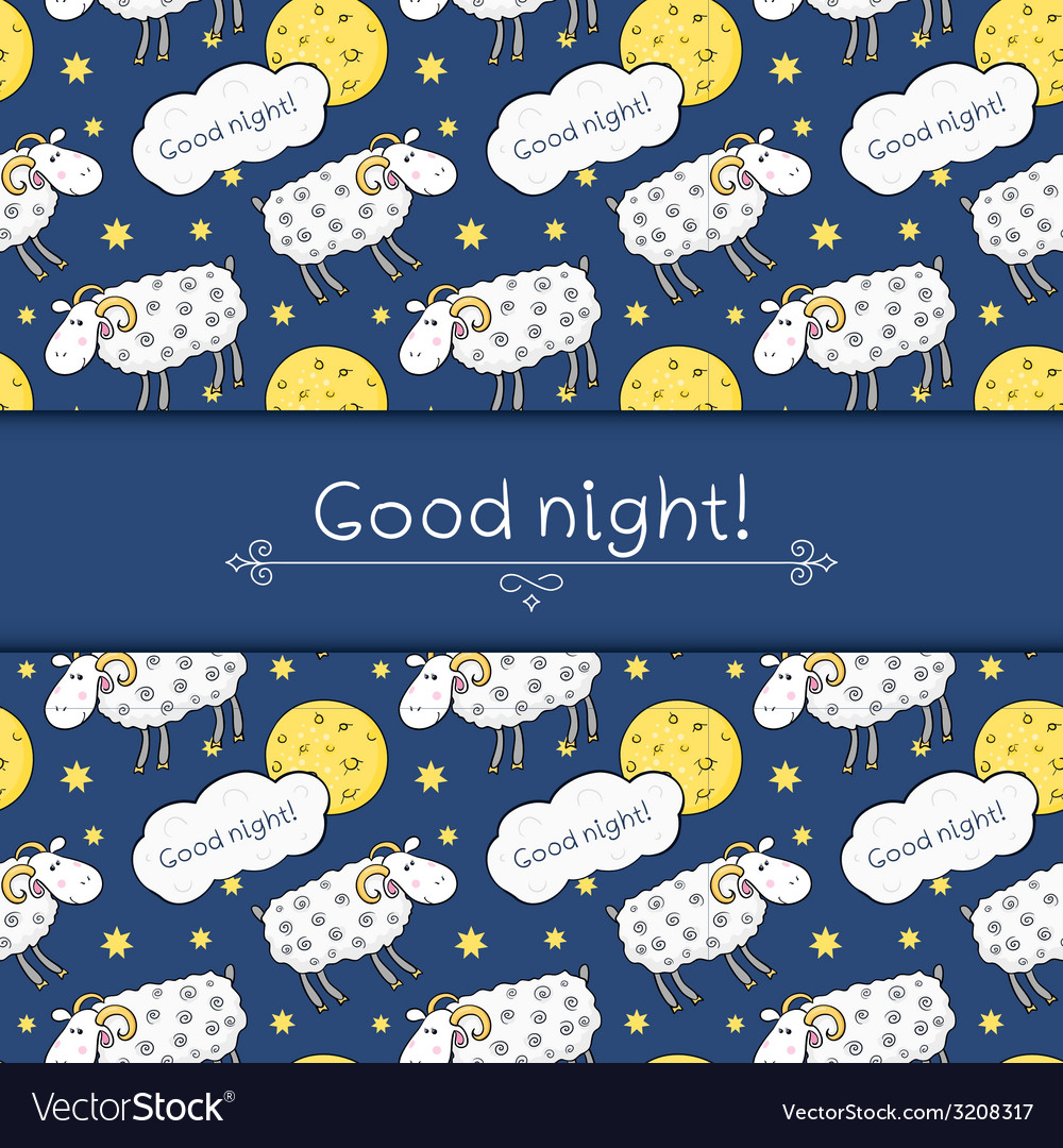 Seamless pattern with images cute sheep on vector | Price: 1 Credit (USD $1)