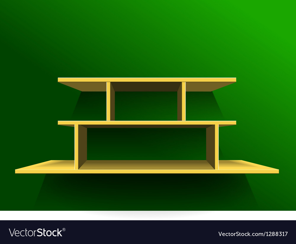 Shelf on green wall1 vector | Price: 1 Credit (USD $1)