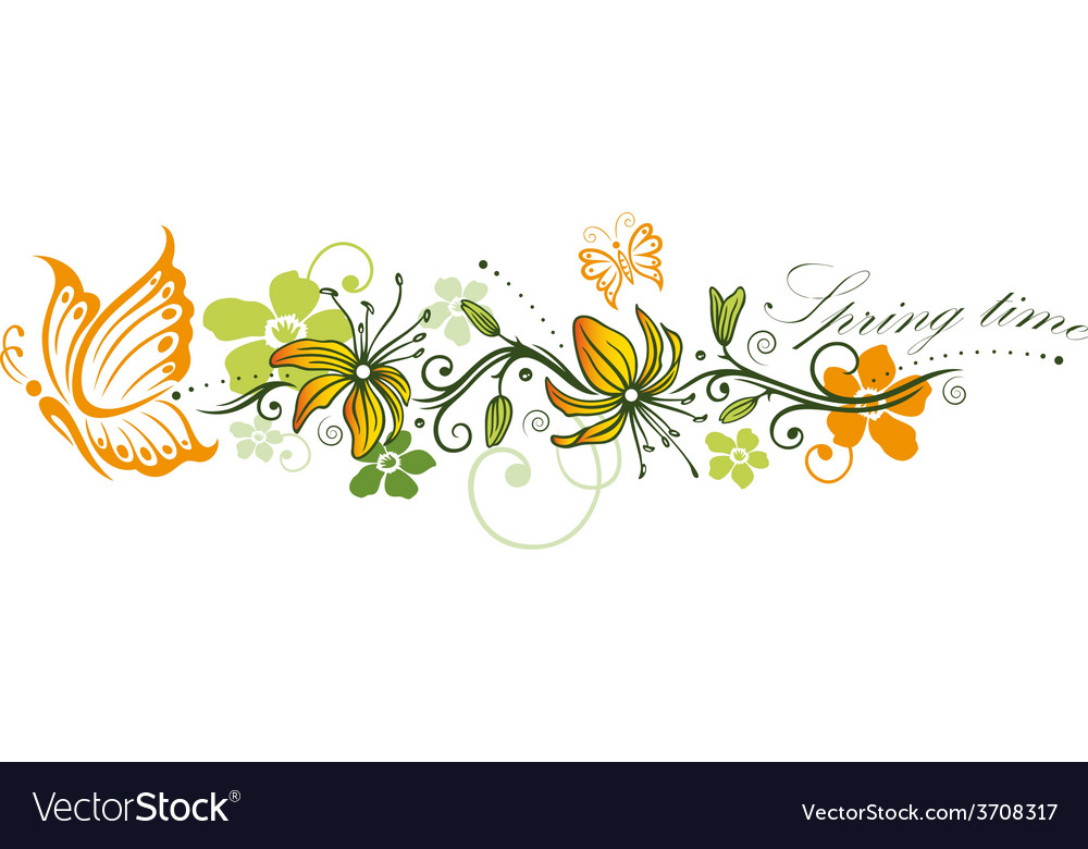 Spring time flowers vector | Price: 1 Credit (USD $1)
