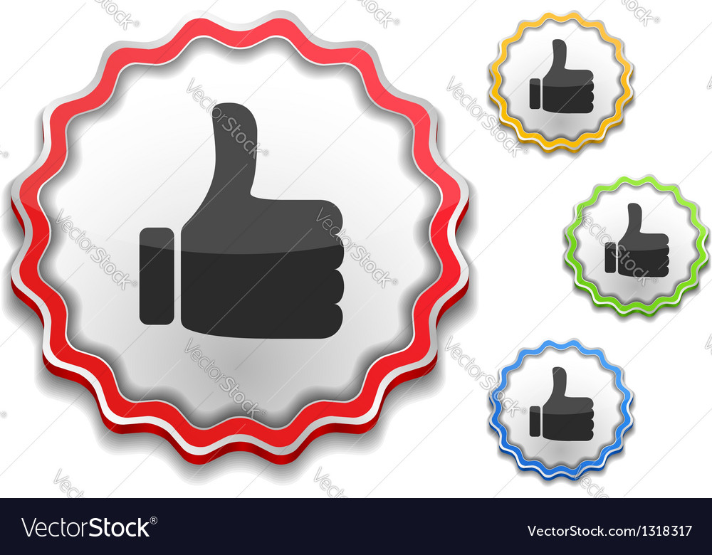 Thumbs up symbol vector | Price: 1 Credit (USD $1)