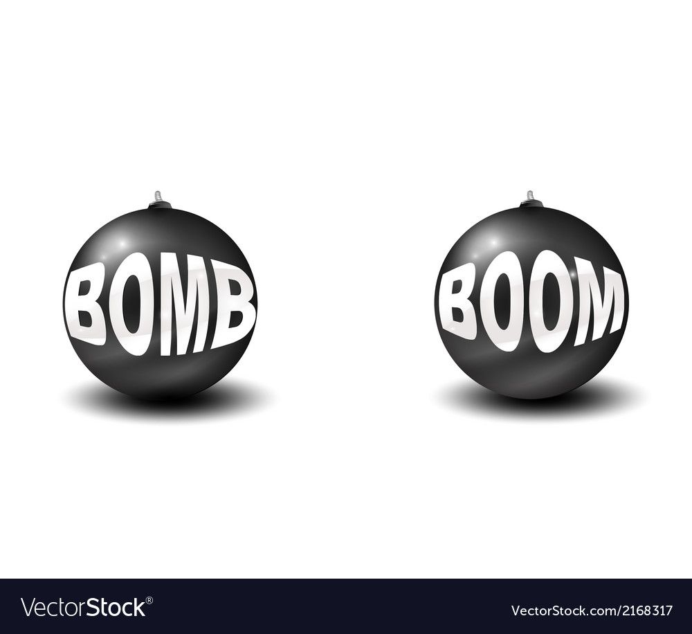 Two bombs vector | Price: 1 Credit (USD $1)