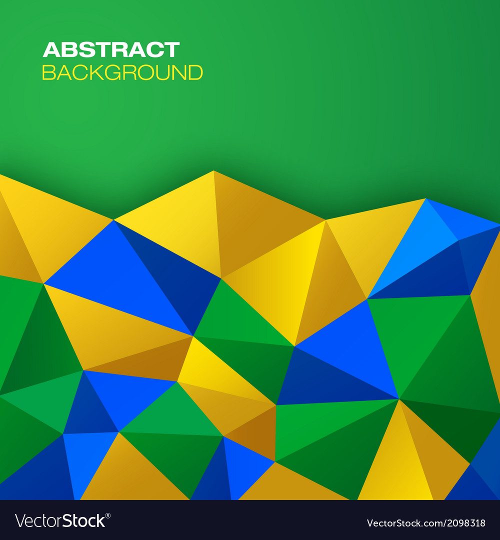 Abstract geometric background using brazil flag co vector | Price: 1 Credit (USD $1)