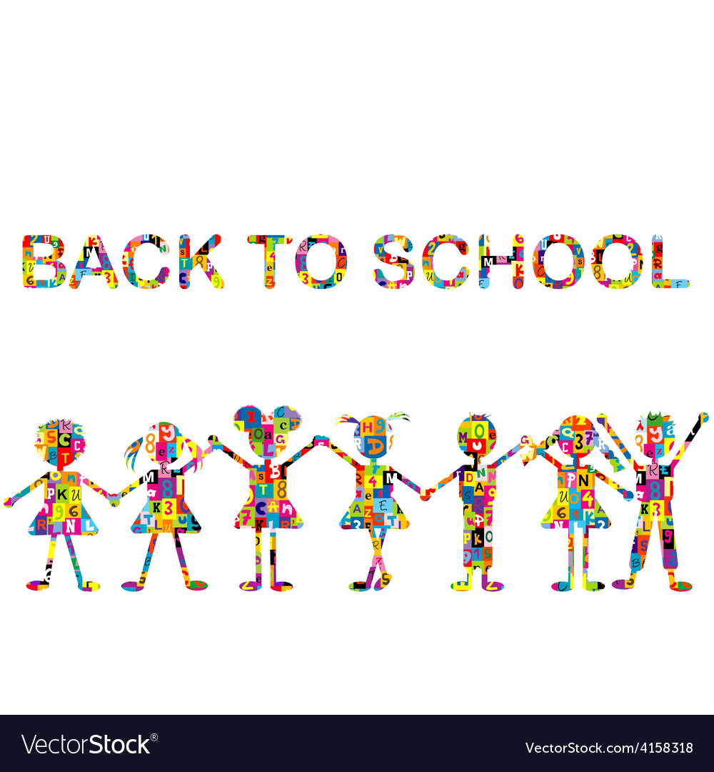 Back to school background with stylized patterned vector | Price: 1 Credit (USD $1)