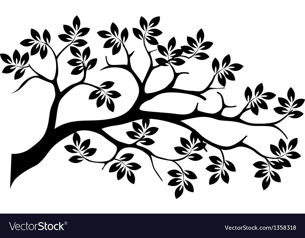 Black tree silhouette isolated vector | Price: 1 Credit (USD $1)
