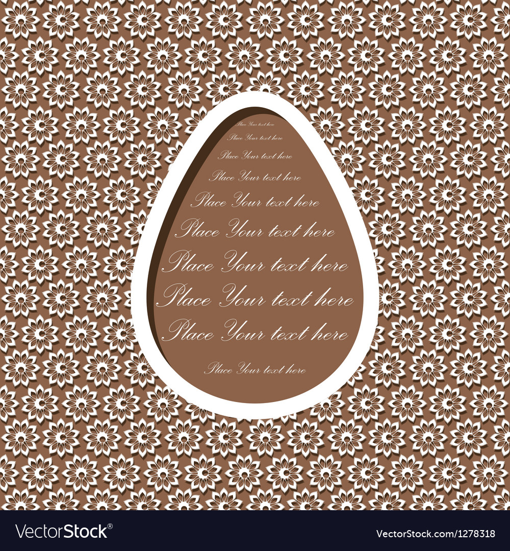 Easter card with egg vector   Price: 1 Credit (USD $1)