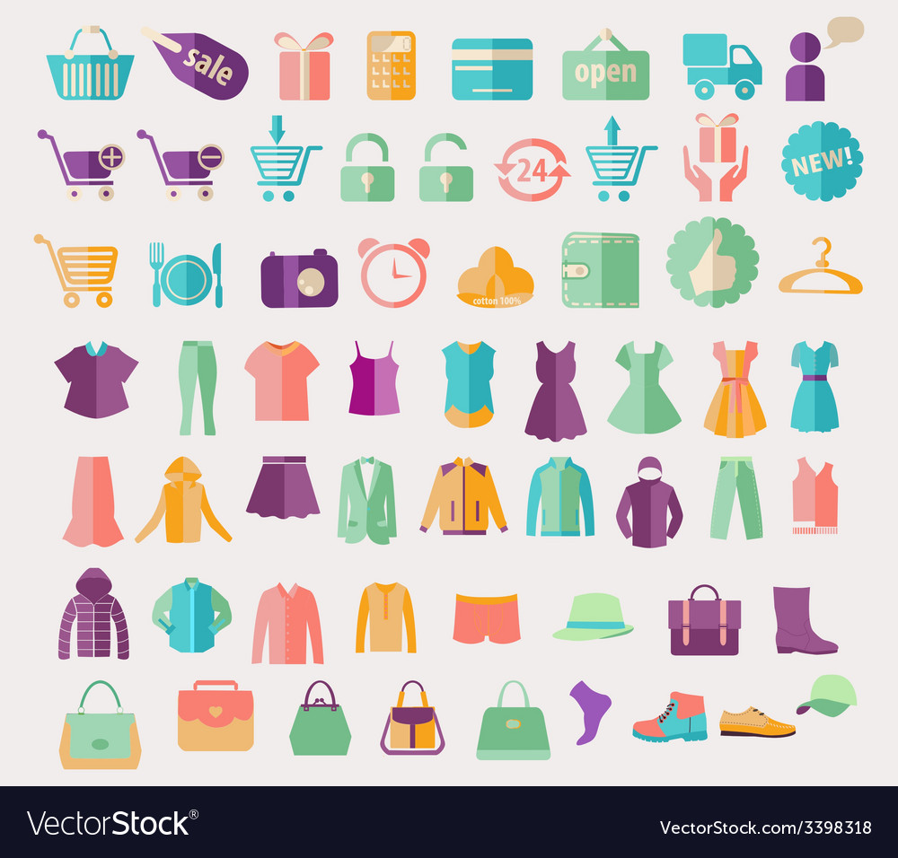 Fashion clothing and shopping related icon vector | Price: 1 Credit (USD $1)