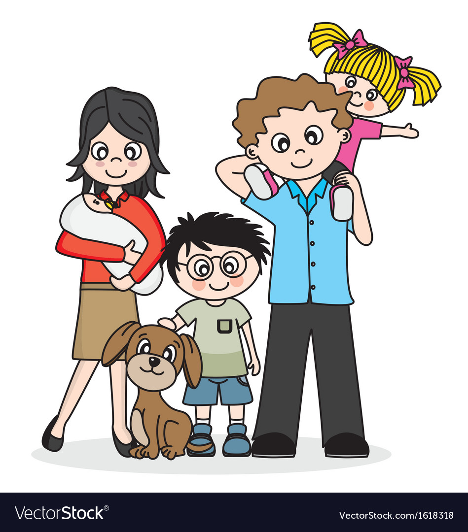 Happy family vector | Price: 1 Credit (USD $1)