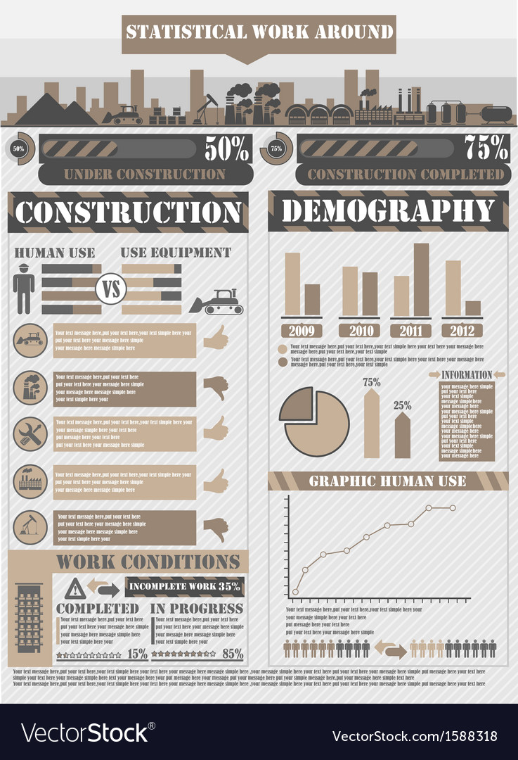 Infographic work brown vector | Price: 1 Credit (USD $1)