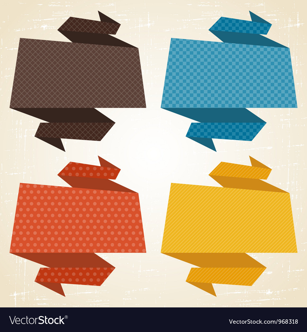 Origami background banner speech bubbles vector | Price: 1 Credit (USD $1)