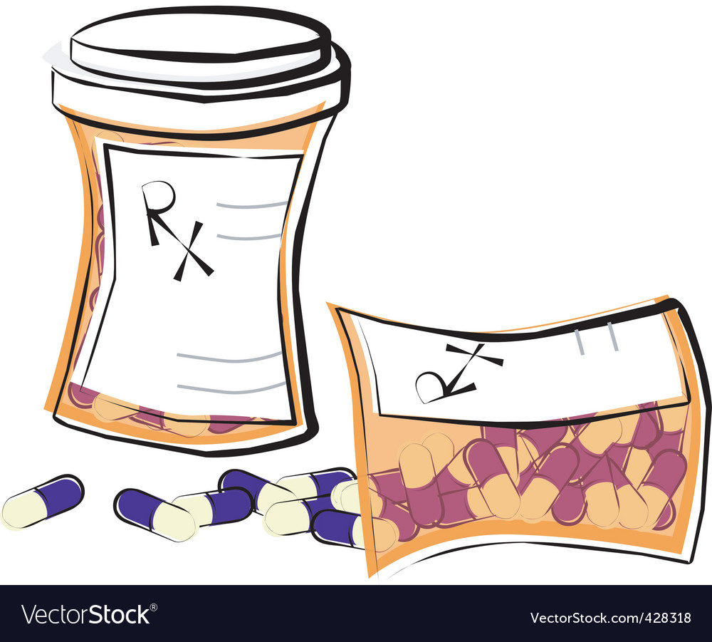 Pill bottles vector | Price: 1 Credit (USD $1)
