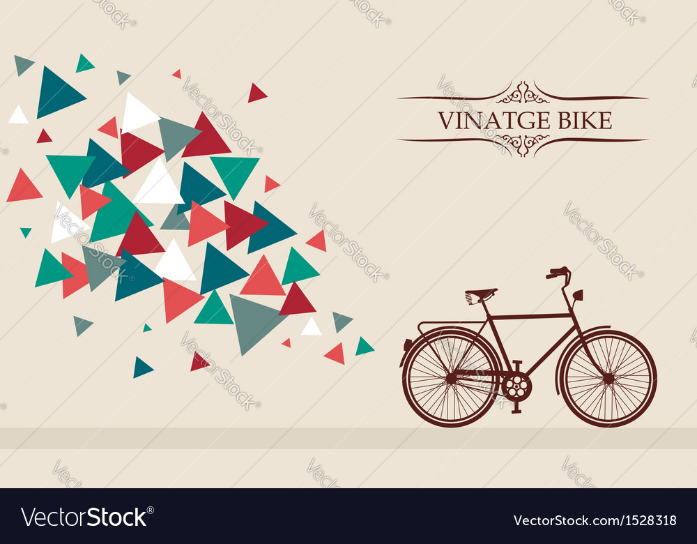 Retro hipster bicycle with geometric elements vector | Price: 1 Credit (USD $1)