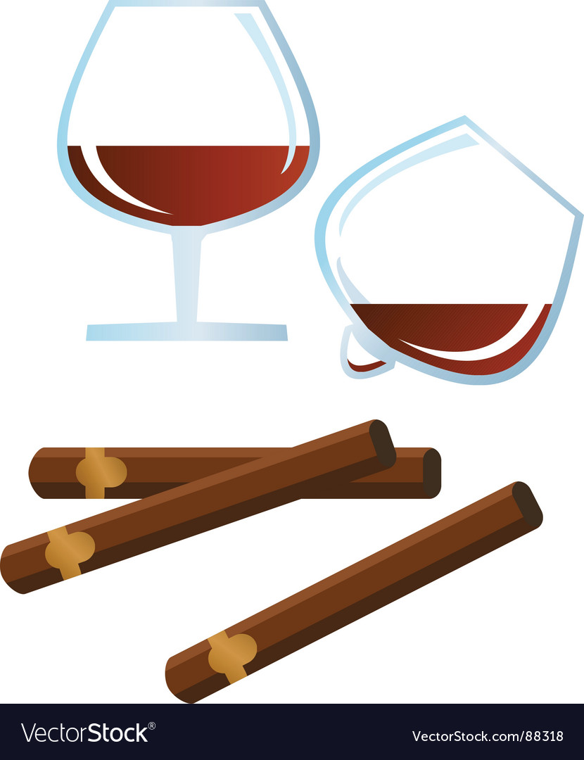 Rum cigar vector | Price: 1 Credit (USD $1)