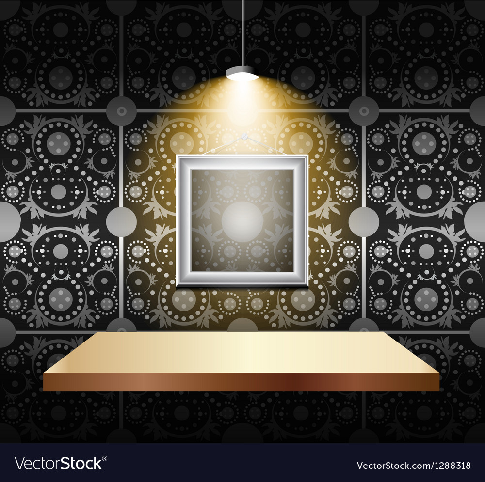 Shelf on luxury wallpaper vector | Price: 1 Credit (USD $1)