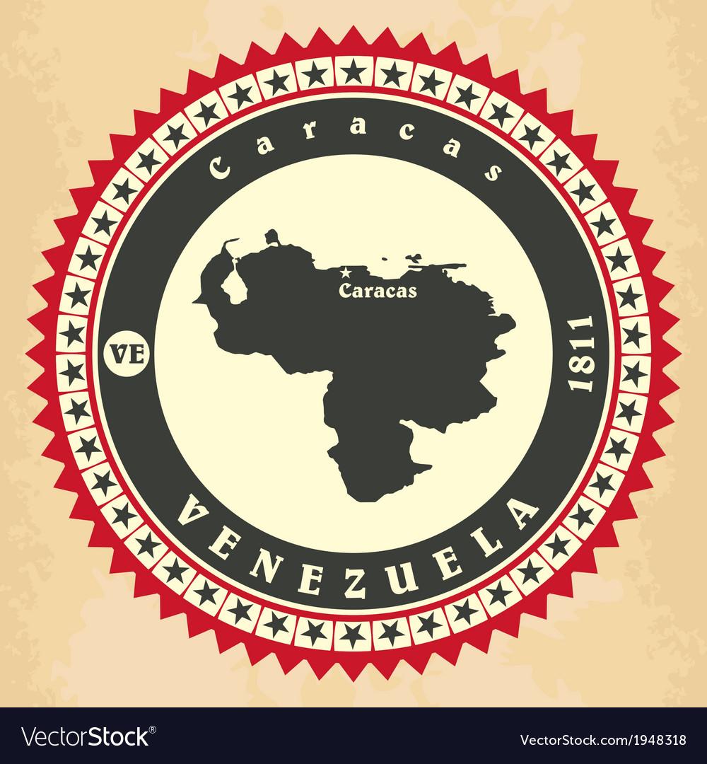 Vintage label-sticker cards of venezuela vector   Price: 1 Credit (USD $1)
