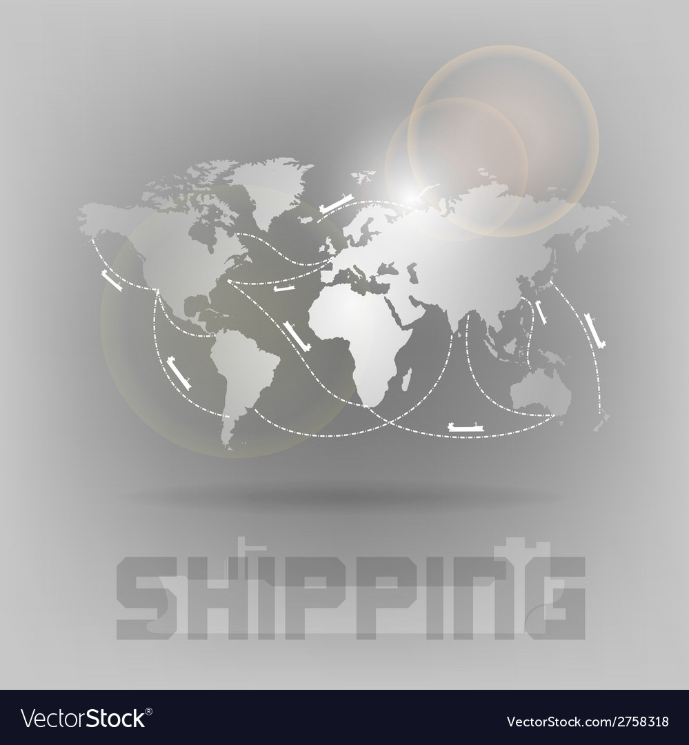 World shipping vector | Price: 1 Credit (USD $1)