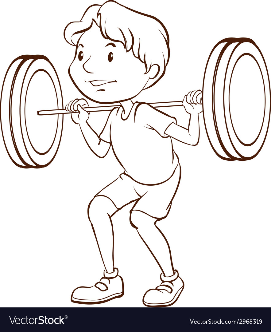 A simple sketch of a boy training vector | Price: 1 Credit (USD $1)