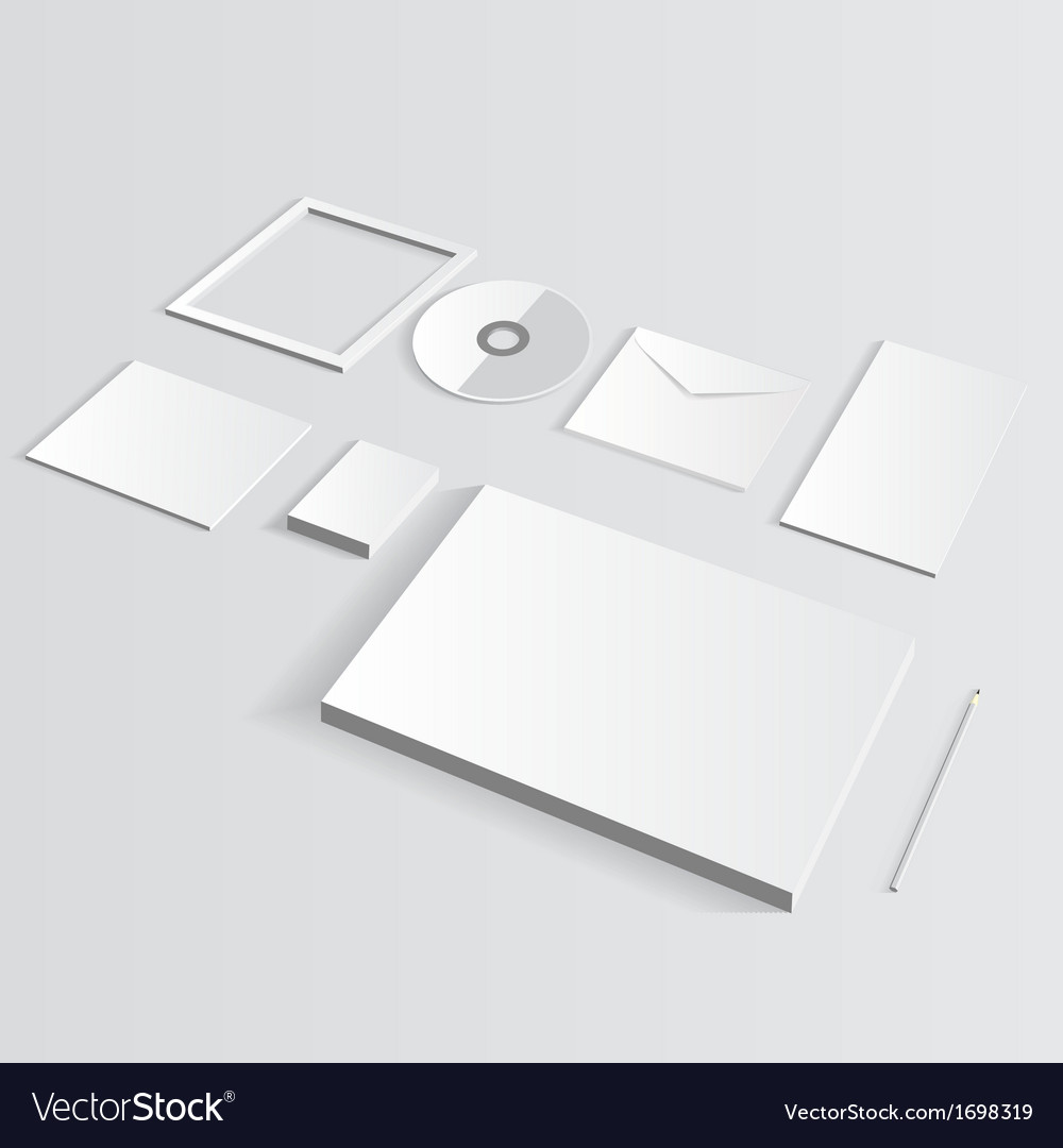 Blank corporate set isolated on grey mock up vector | Price: 1 Credit (USD $1)