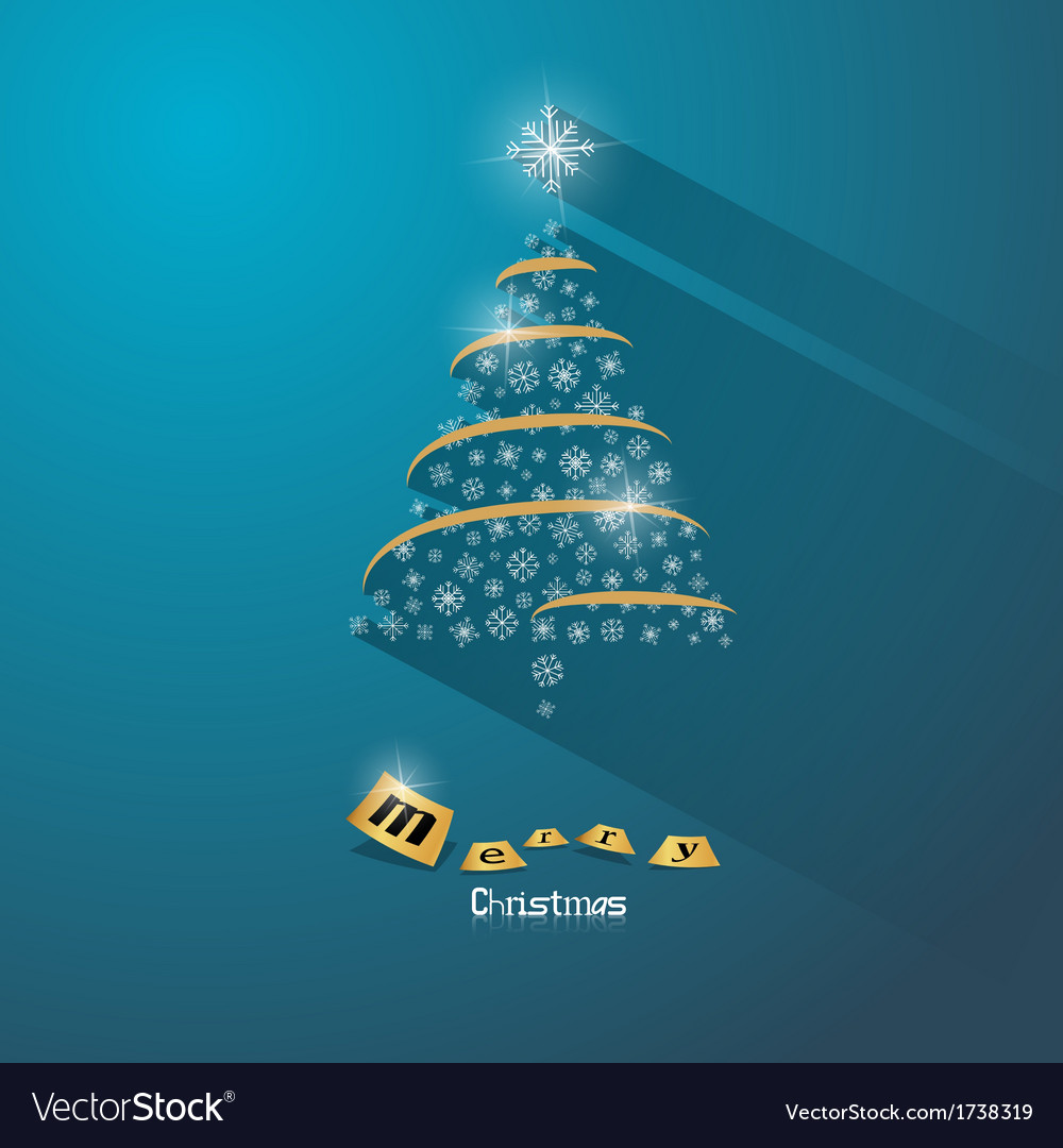 Blue abstract merry christmas background vector | Price: 1 Credit (USD $1)