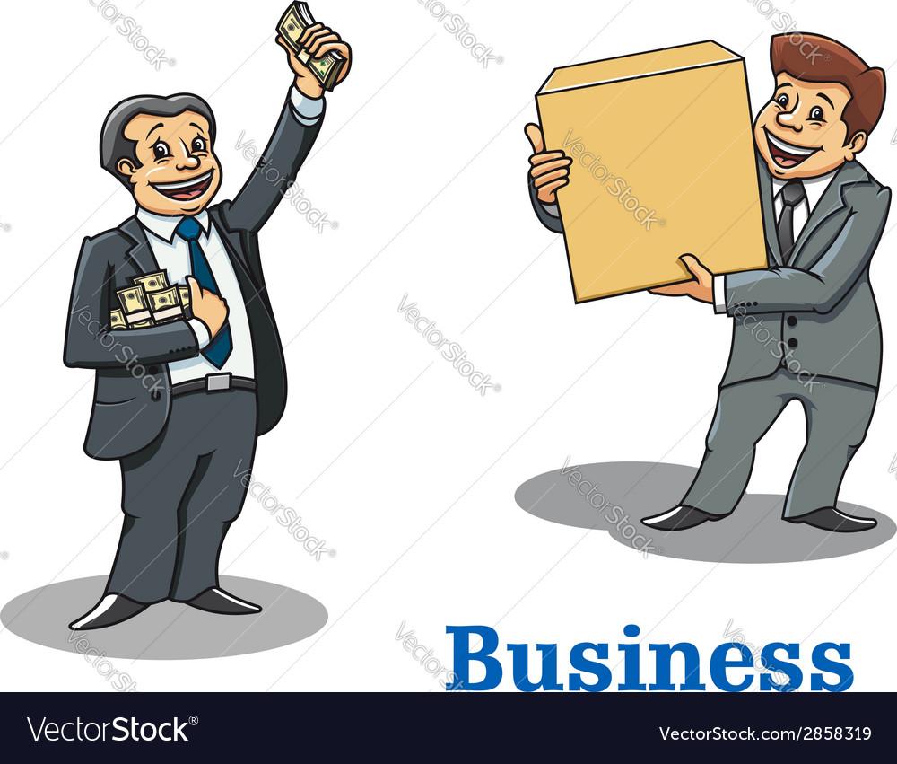 Cartoon happy businessmen characters vector | Price: 1 Credit (USD $1)