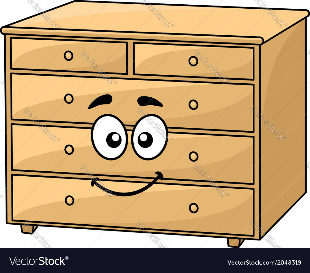 Cartoon wooden chest of drawers vector | Price: 1 Credit (USD $1)