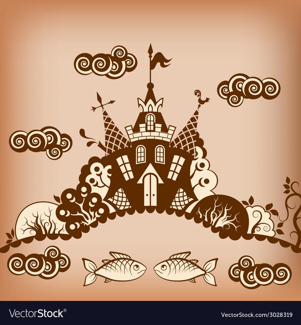 Castle brown vector | Price: 1 Credit (USD $1)