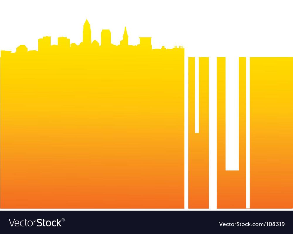 Cityscape background vector | Price: 1 Credit (USD $1)