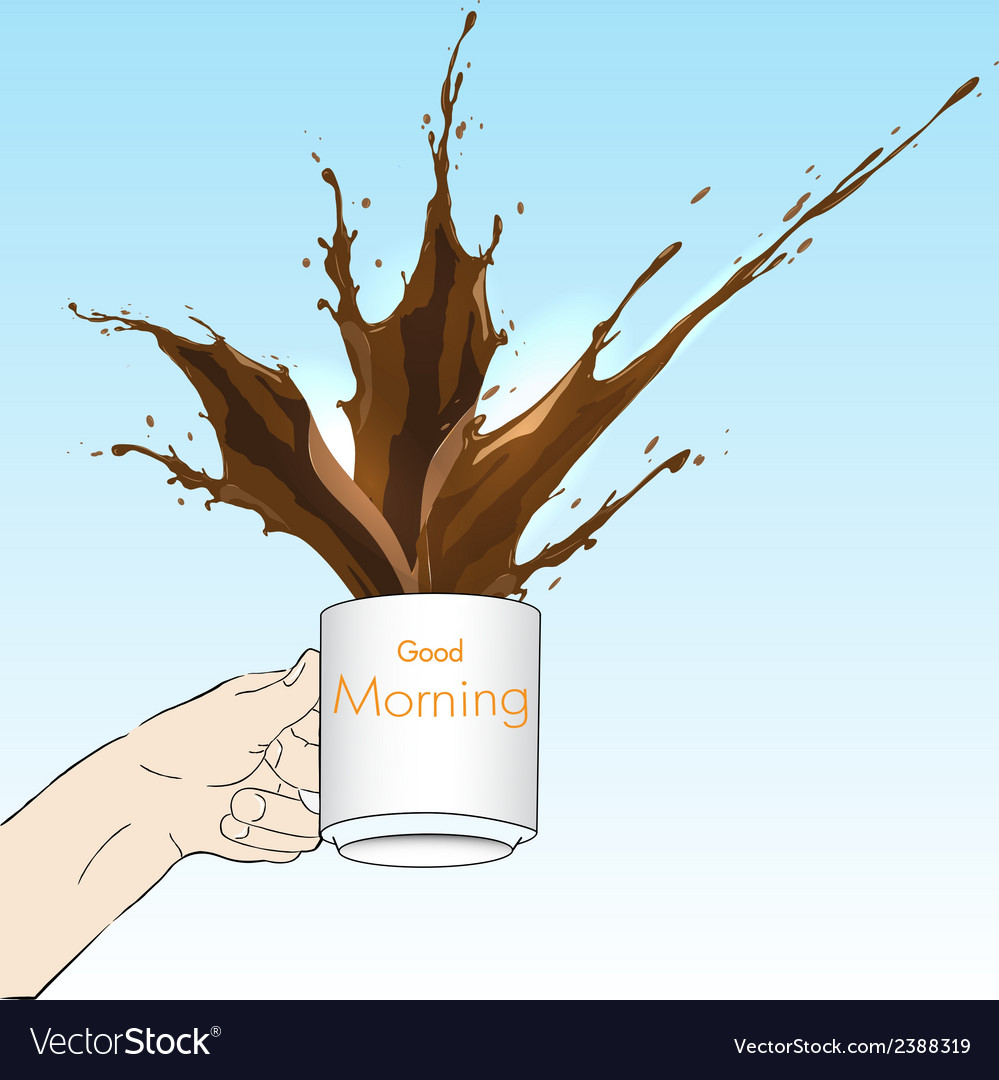 Coffee splash vector | Price: 1 Credit (USD $1)