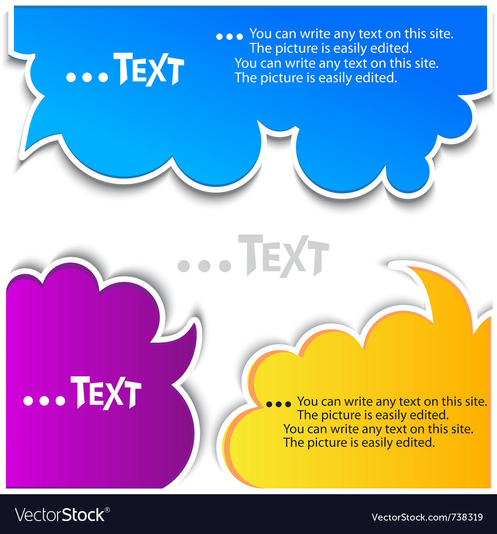 Colorful bubbles for speech vector | Price: 1 Credit (USD $1)