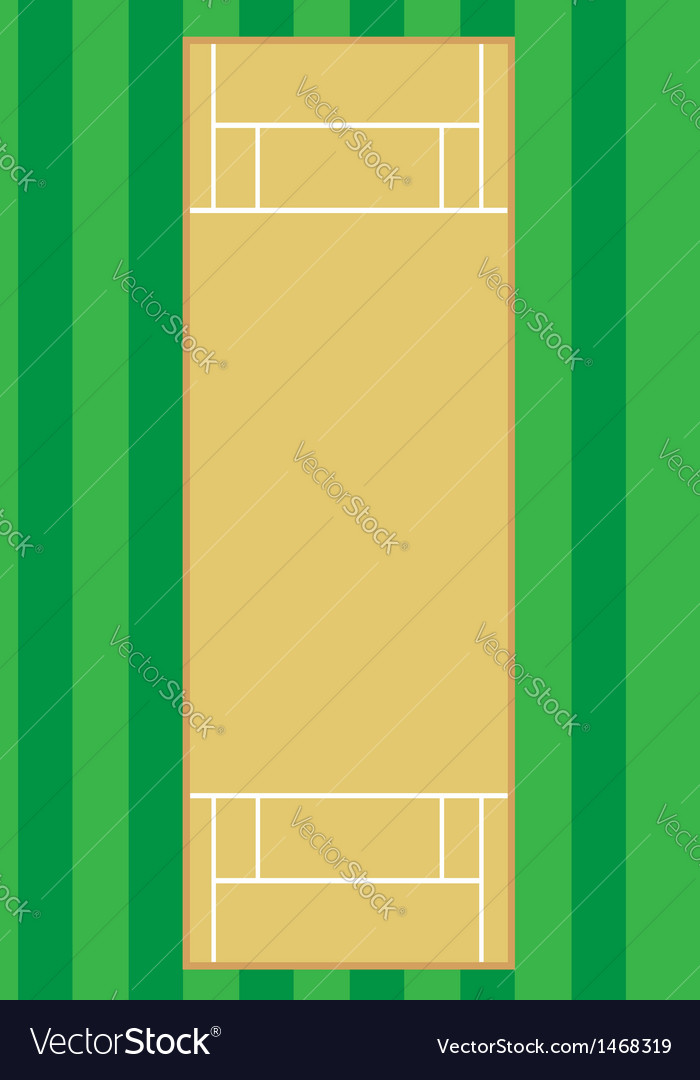 Cricket pitch vector | Price: 1 Credit (USD $1)