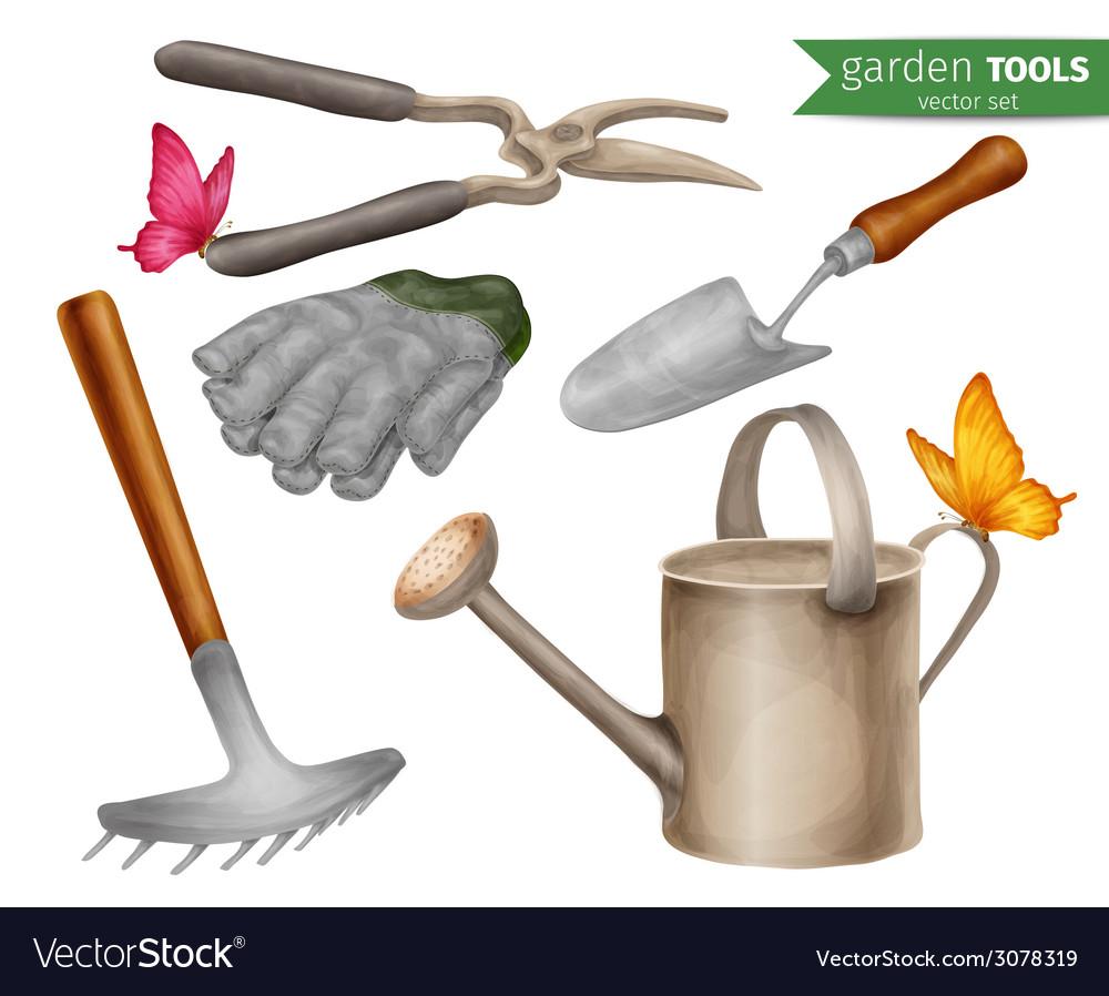Garden tools set vector | Price: 1 Credit (USD $1)
