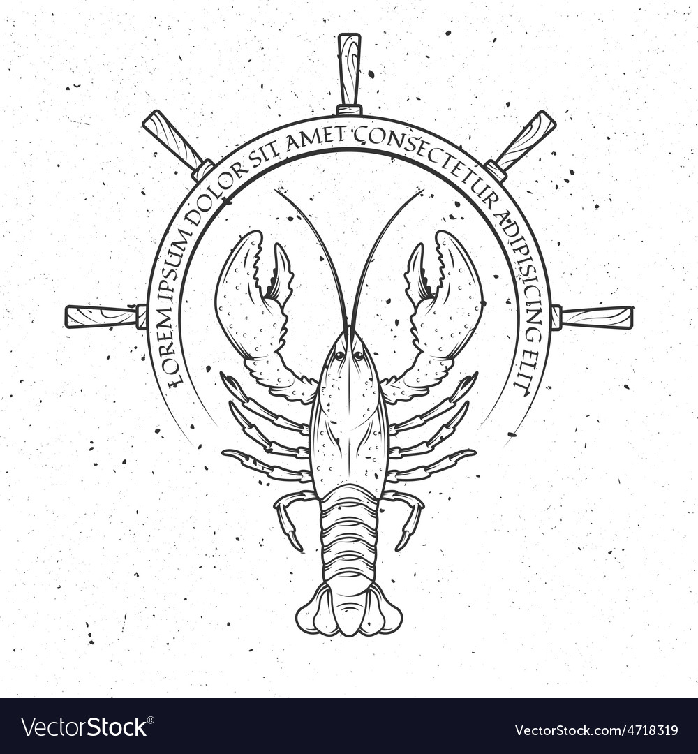 Lobster helm of the ship vector | Price: 1 Credit (USD $1)