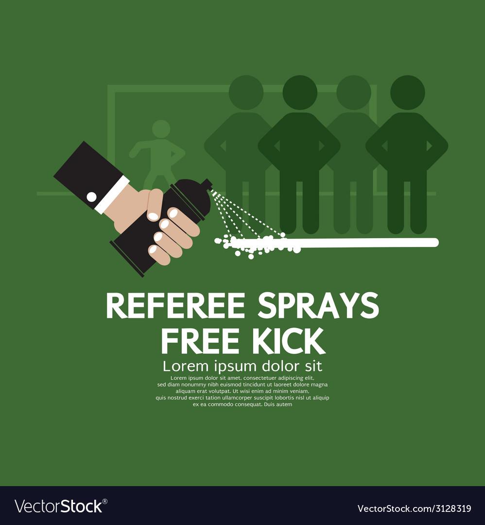 Referee sprays free kick vector | Price: 1 Credit (USD $1)