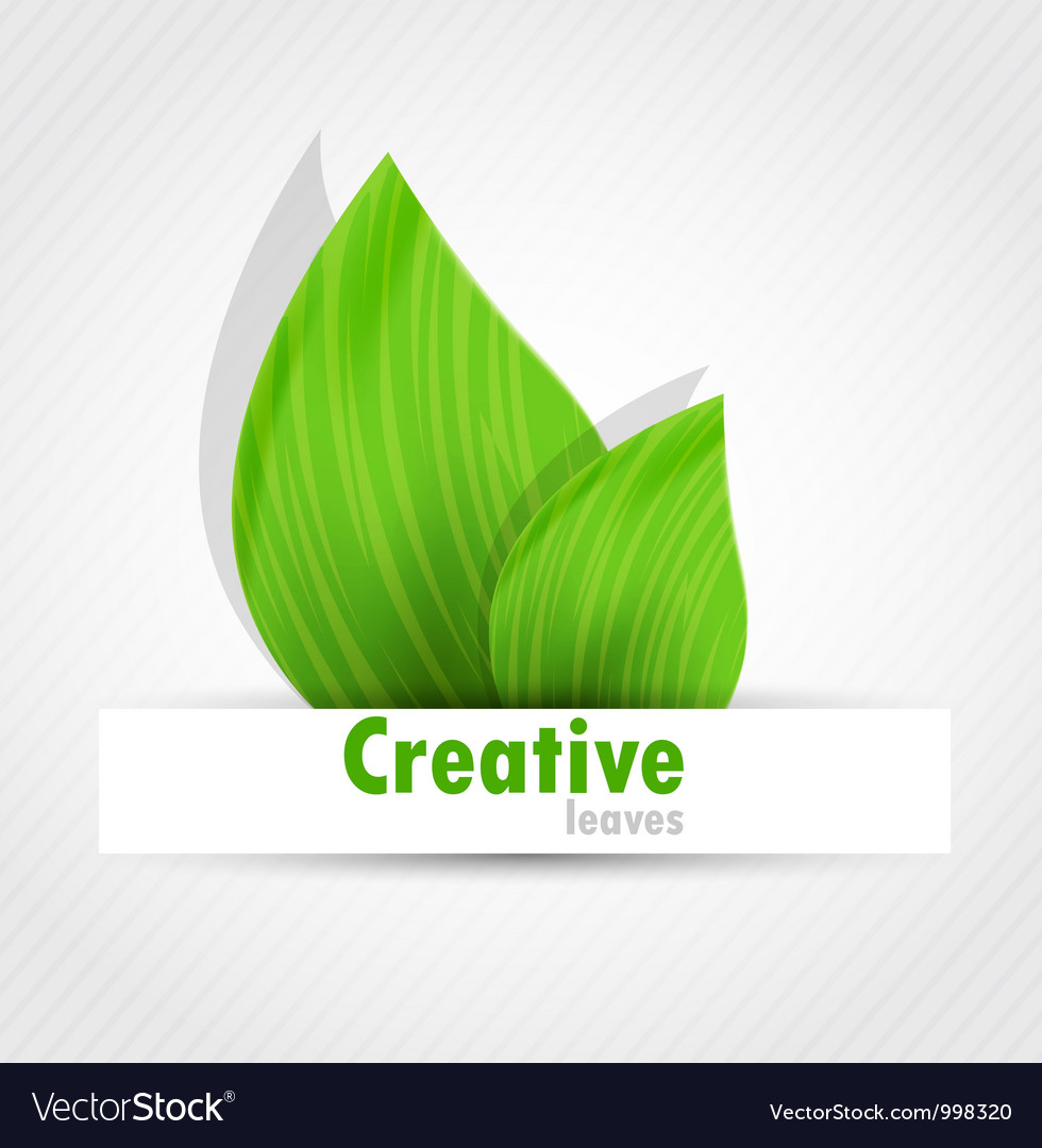 Background with two leaves vector | Price: 1 Credit (USD $1)