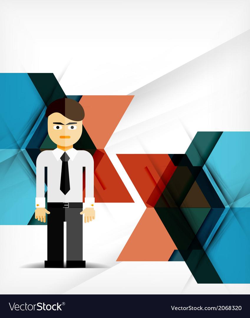 Business geometric design background vector | Price: 1 Credit (USD $1)