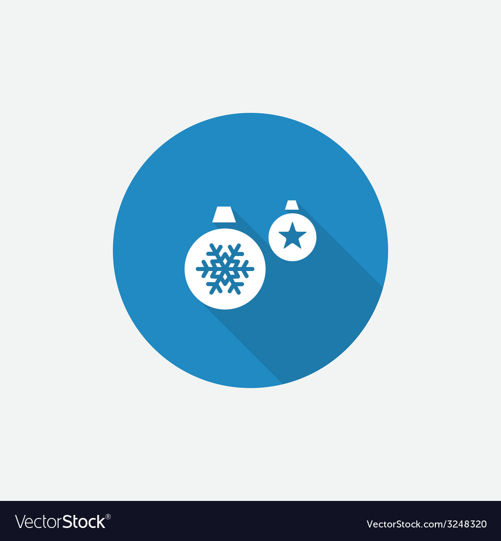 Christmas decorations flat blue simple icon with vector | Price: 1 Credit (USD $1)