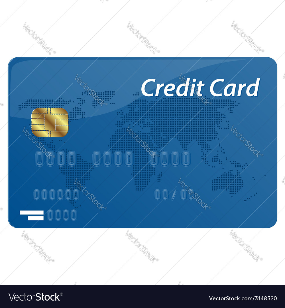 Credit card vector | Price: 1 Credit (USD $1)