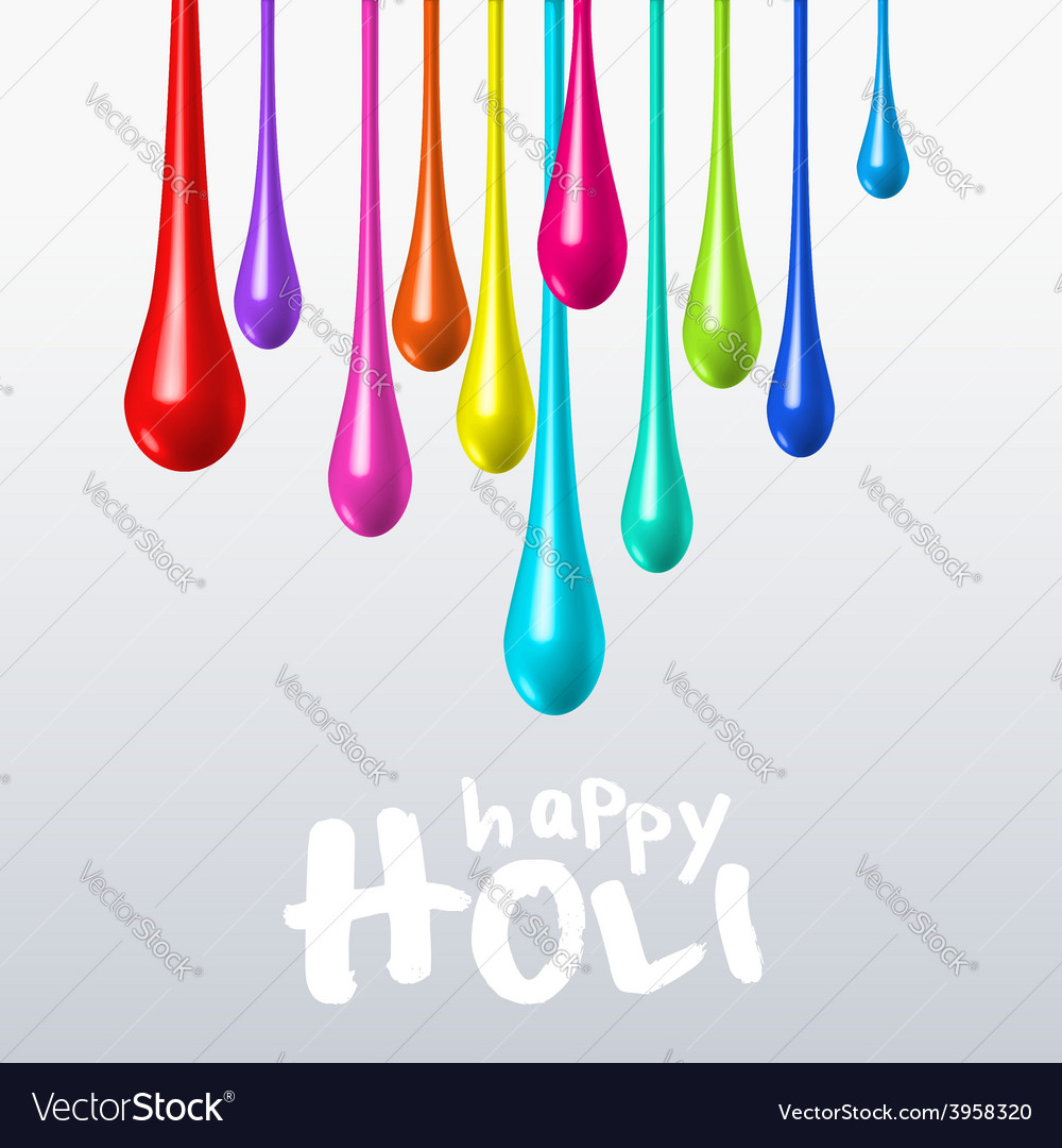 Dripping colors on holi festival vector | Price: 1 Credit (USD $1)