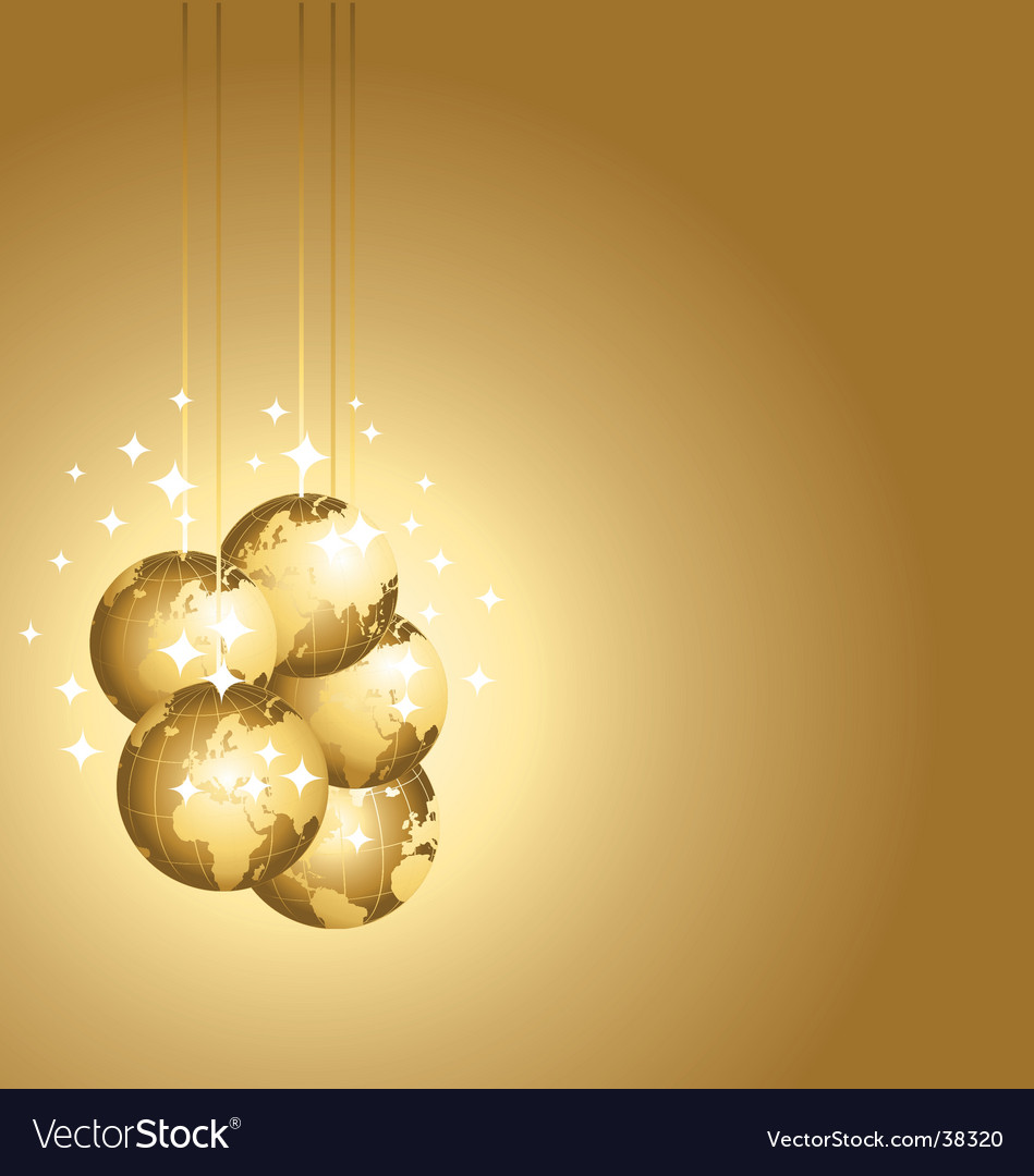Golden globes background vector | Price: 1 Credit (USD $1)
