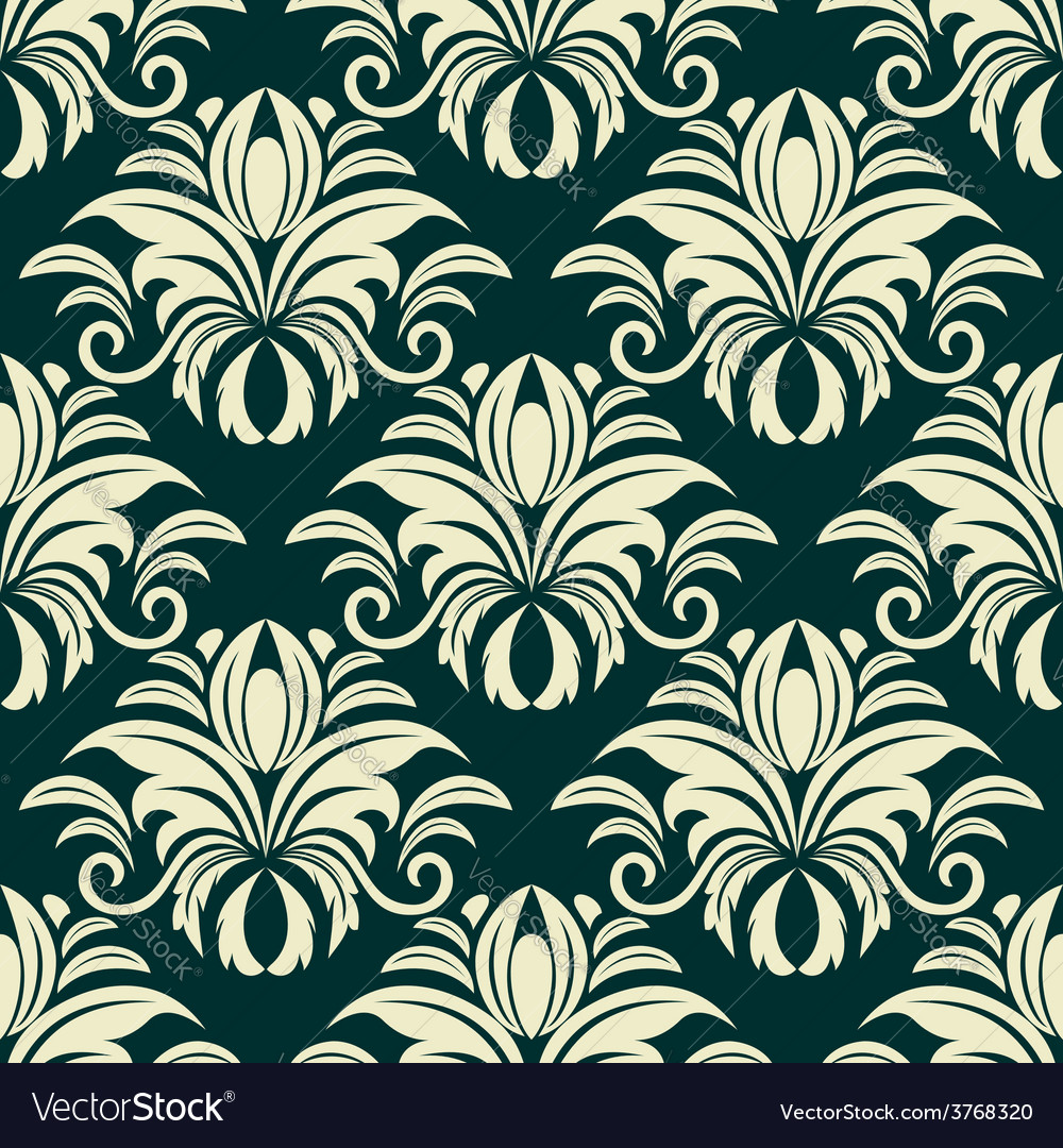 Gothic floral beige pattern vector | Price: 1 Credit (USD $1)