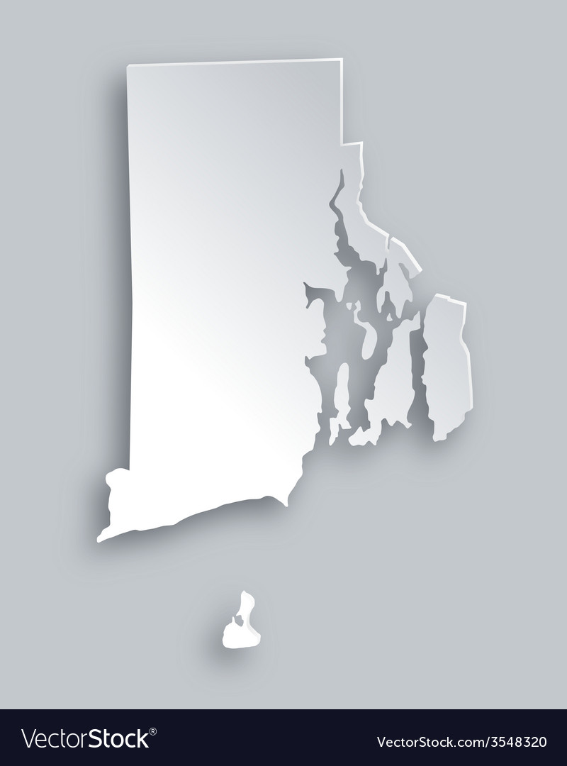 Map of rhode island vector | Price: 1 Credit (USD $1)