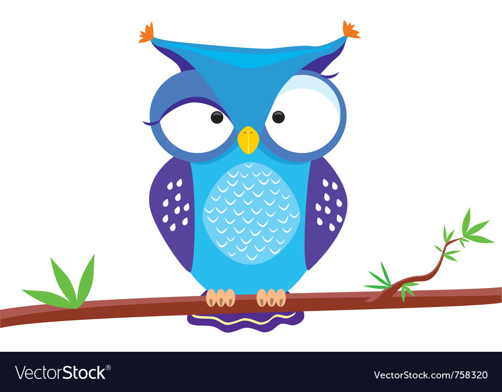 Owl funny vector | Price: 1 Credit (USD $1)