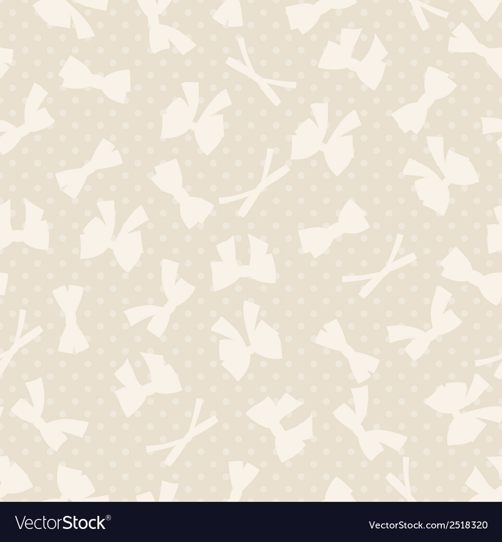 Seamless pattern with abstract various bows and vector | Price: 1 Credit (USD $1)