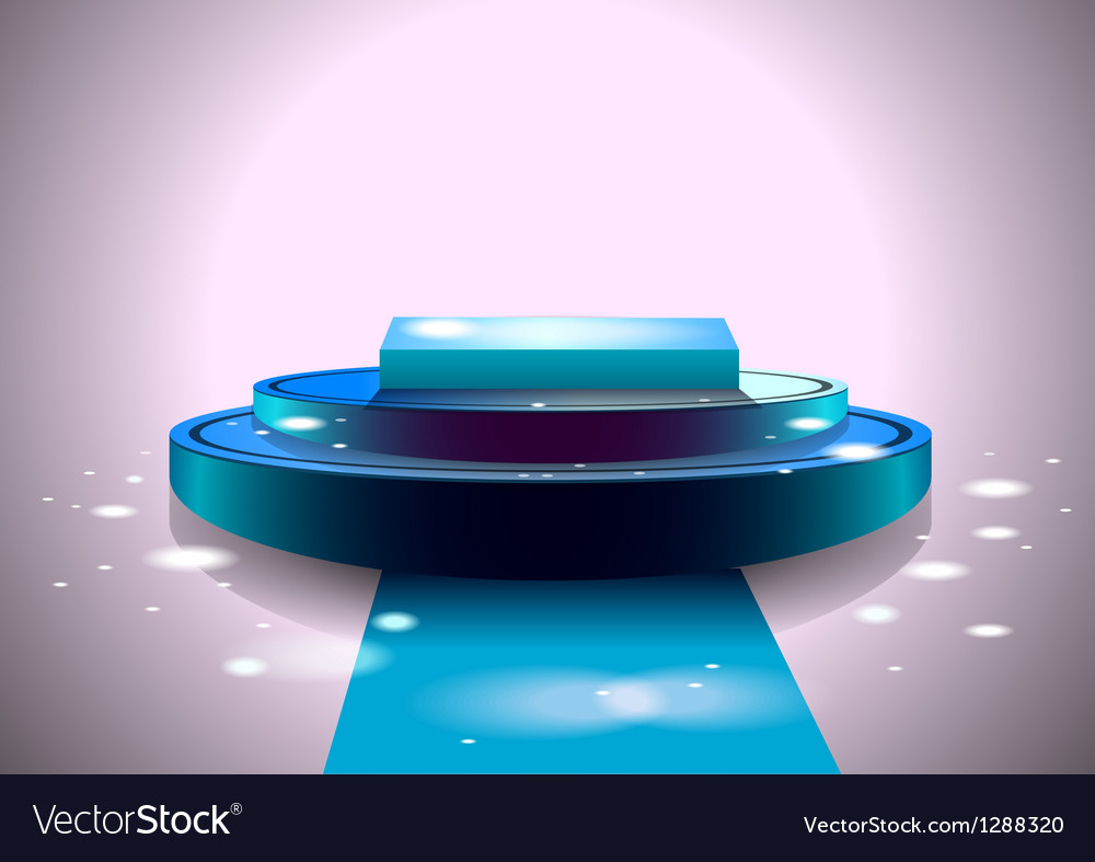 Shiny blue stage vector | Price: 1 Credit (USD $1)